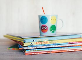 stationery and book